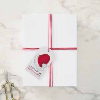 A Gift from Secret Santa Claus Red Christmas Xmas Gift Tags