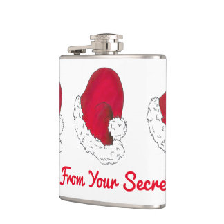 A Gift from Secret Santa Claus Red Christmas Xmas Hip Flask