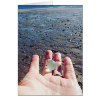 A gift from the Sea - Scottish sea glass marble Card