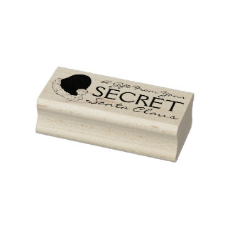 A Gift from Your Secret Santa Claus Christmas Xmas Rubber Stamp