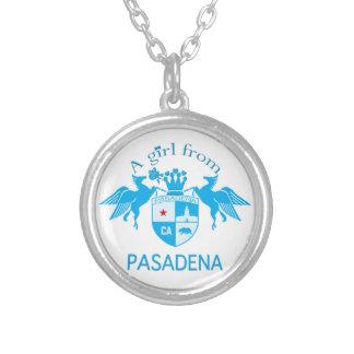 A Girl From PASADENA Logo Blue Emblem Custom Necklace