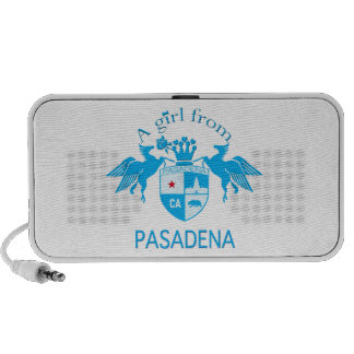 A Girl From PASADENA Logo Blue Emblem Mp3 Speaker