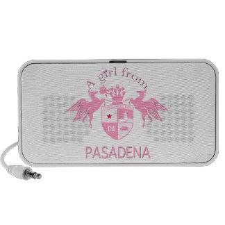 A Girl From PASADENA Logo Emblem Mp3 Speakers