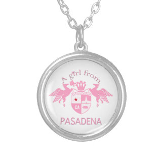 A Girl From PASADENA Logo Emblem Personalized Necklace