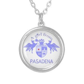 A Girl From PASADENA Logo Purple Emblem Jewelry