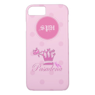 A Girl From PASADENA Logo with slippers Monogram iPhone 7 Case
