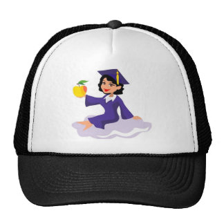 A Girl in Her Blue Cap and Gown Trucker Hats