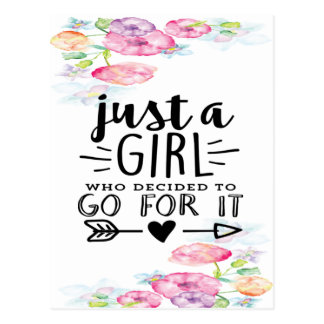 A Girl Who Decided To Go For It Postcard