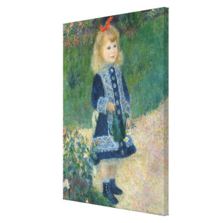 A Girl with a Watering Can, 1876 (oil on canvas) Stretched Canvas Prints