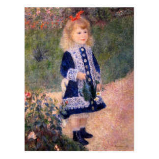 A Girl With A Watering Can by Pierre Renoir Postcard