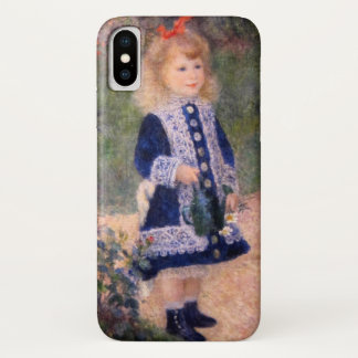 A Girl with a Watering Can by Renoir iPhone X Case