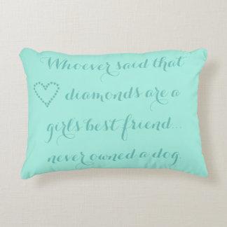 A Girl's Best Friend Accent Cushion