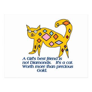 A girl's Best Friend? Card Postcard