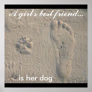 A Girl's Best Friend Print