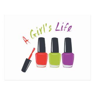 A Girls Life Postcard