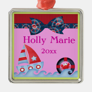 A Girls Sea Life Baby Shower Christmas Tree Ornament