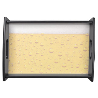 A Glass of Beer Serving Tray
