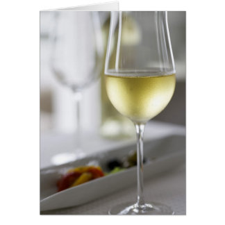 A glass of white wine 2 card