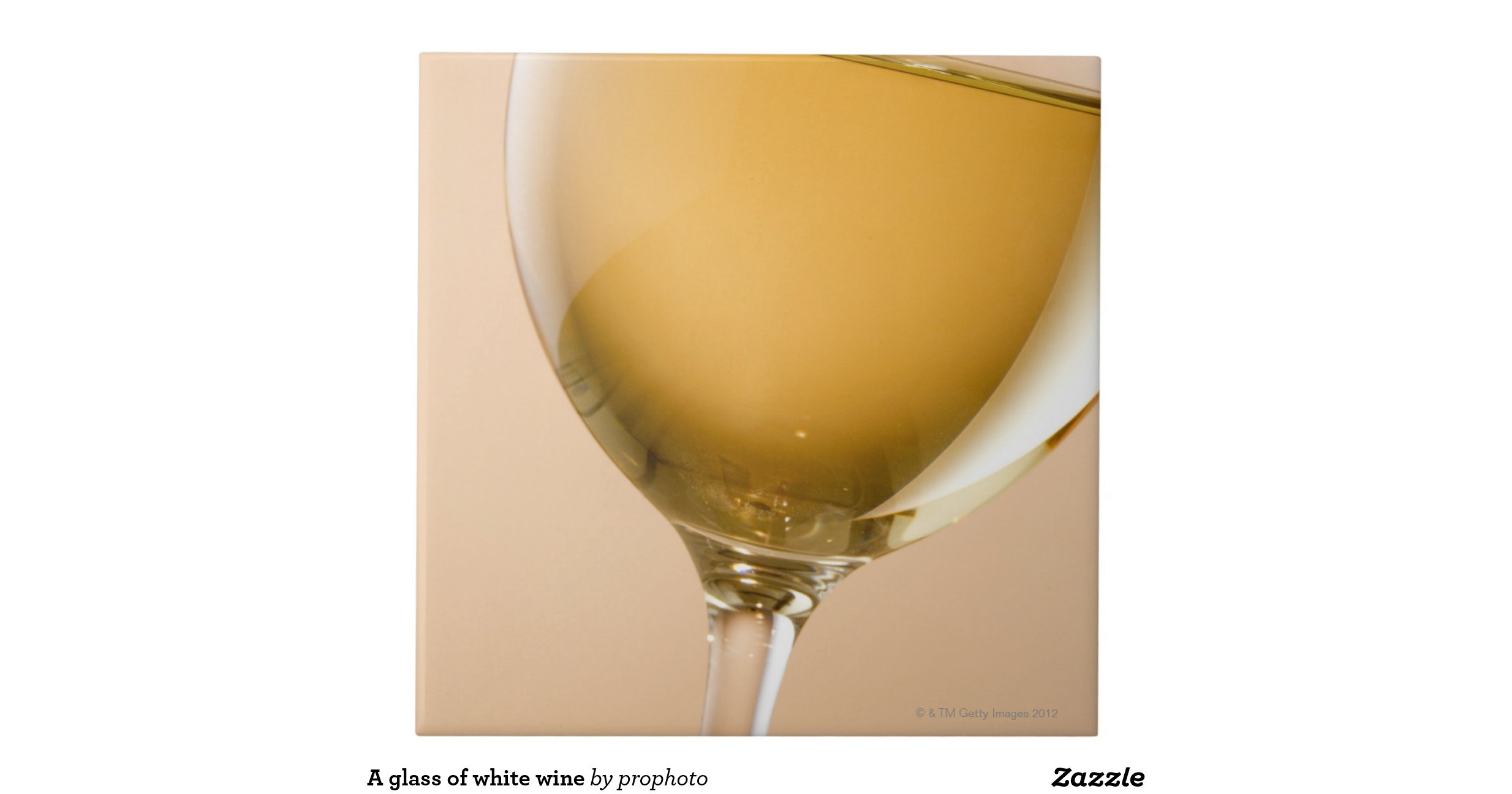 A glass of white wine large square tile zazzle for Large white wine glasses