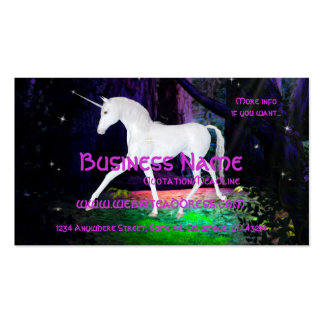 A Glimpse of a Unicorn - Fantasy Business Cards