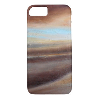A Glimpse of Blue Abstract iPhone Case