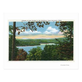 A Glimpse of Lake Garfield Post Card