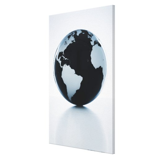 A globe 3 stretched canvas print