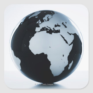 A globe square sticker