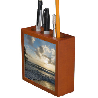 A Glorious Beach Morning Desk Organiser