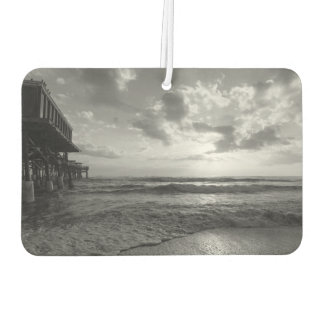 A Glorious Beach Morning Grayscale Car Air Freshener
