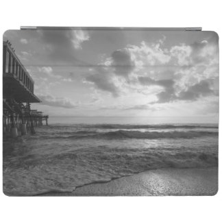 A Glorious Beach Morning Grayscale iPad Cover