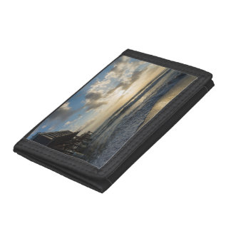 A Glorious Beach Morning Tri-fold Wallets