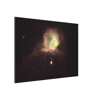 A Glowing Gas Cloud in the Star-Forming Region Canvas Print