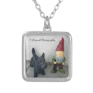 A gnome and his dog necklace jewelry