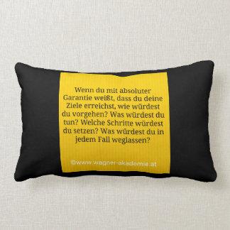 A goal & warranty lumbar cushion