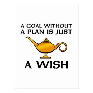 A Goal Without A Plan Postcard