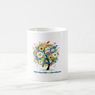A God-Shaped Life is A Flourishing Tree Christian Coffee Mug