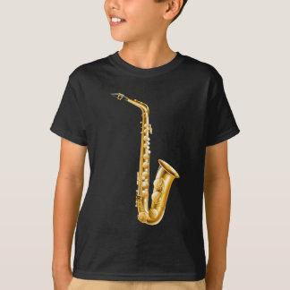A gold saxophone T-Shirt