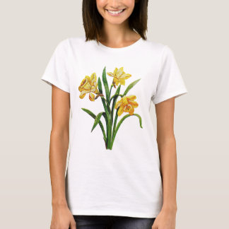 A Golden Host of Embroidered Daffodils T-Shirt