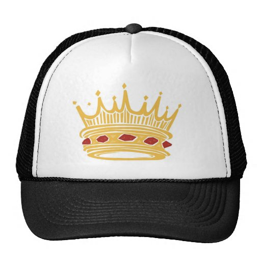 A Golden King's Crown With Jewels Trucker Hats