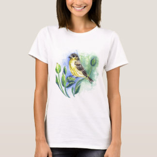 A Goldfinch female, Watercolor Pencil T-Shirt