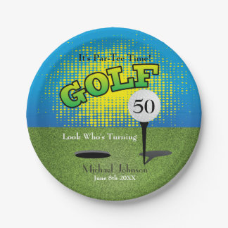 A Golf Player Party Paper Plate