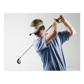 A golfer postcard