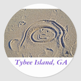 A Good Day at the Beach, Tybee Island, GA Round Sticker
