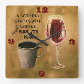 A Good Day Wine and Coffee Clock