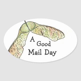A good email day maple oval sticker