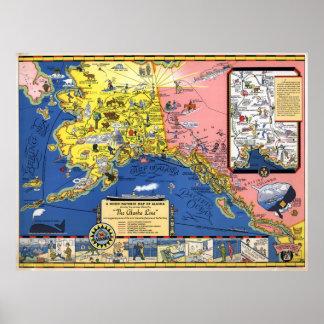 A good-natured map of Alaska Poster