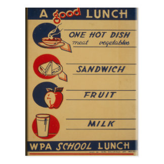 A Good School Lunch Postcard