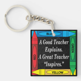 A Good Teacher Explains Single-Sided Square Acrylic Key Ring