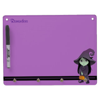 A Goth Witch Dry Erase Board With Key Ring Holder